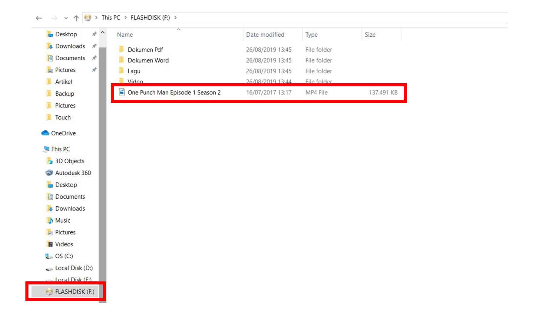 Cara Memindahkan File ke Flashdisk Metode Sent to