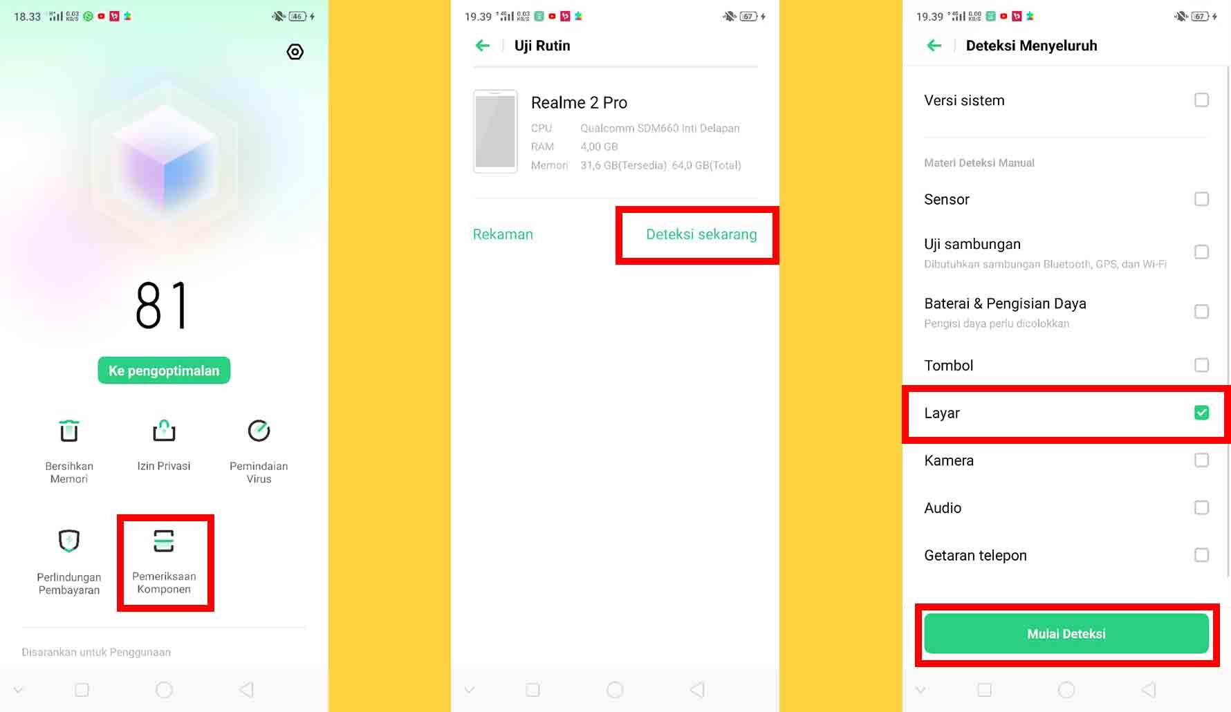 Cara Mengecek Touchscreen Realme dan Oppo