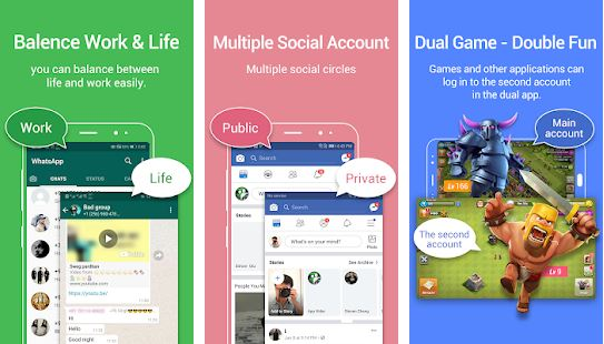 aplikasi ganda Dual Apps