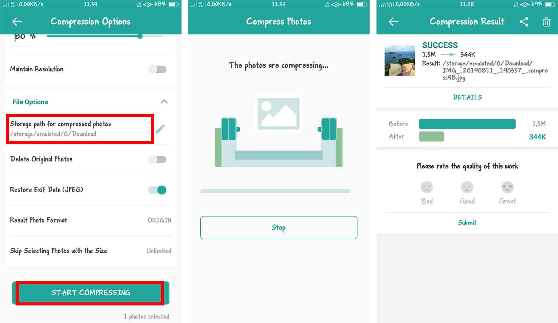 Mengecilkan Ukuran JPG atau PNG dengan Aplikasi Kompres dan Ubah Ukuran Foto