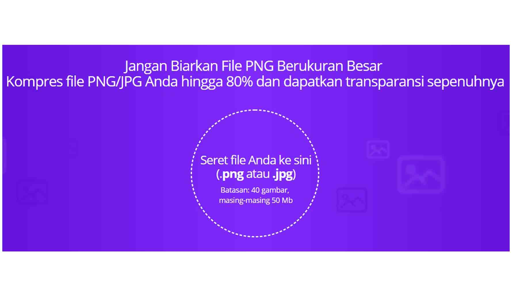 Mengecilkan Ukuran JPG atau PNG dengan websiteplanet