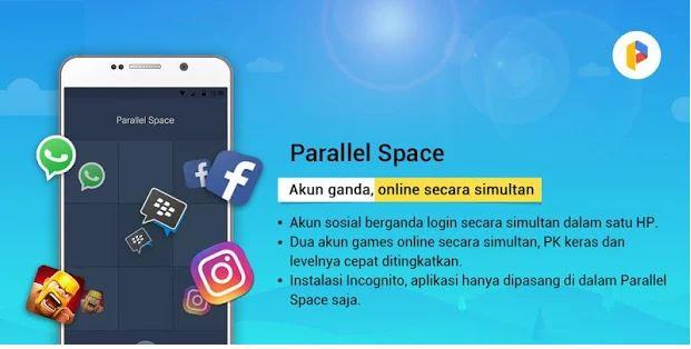 Aplikasi Ganda Parallel Space