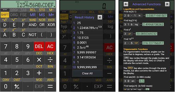 kalkulator lengkap RealCalc Scientific Calculator
