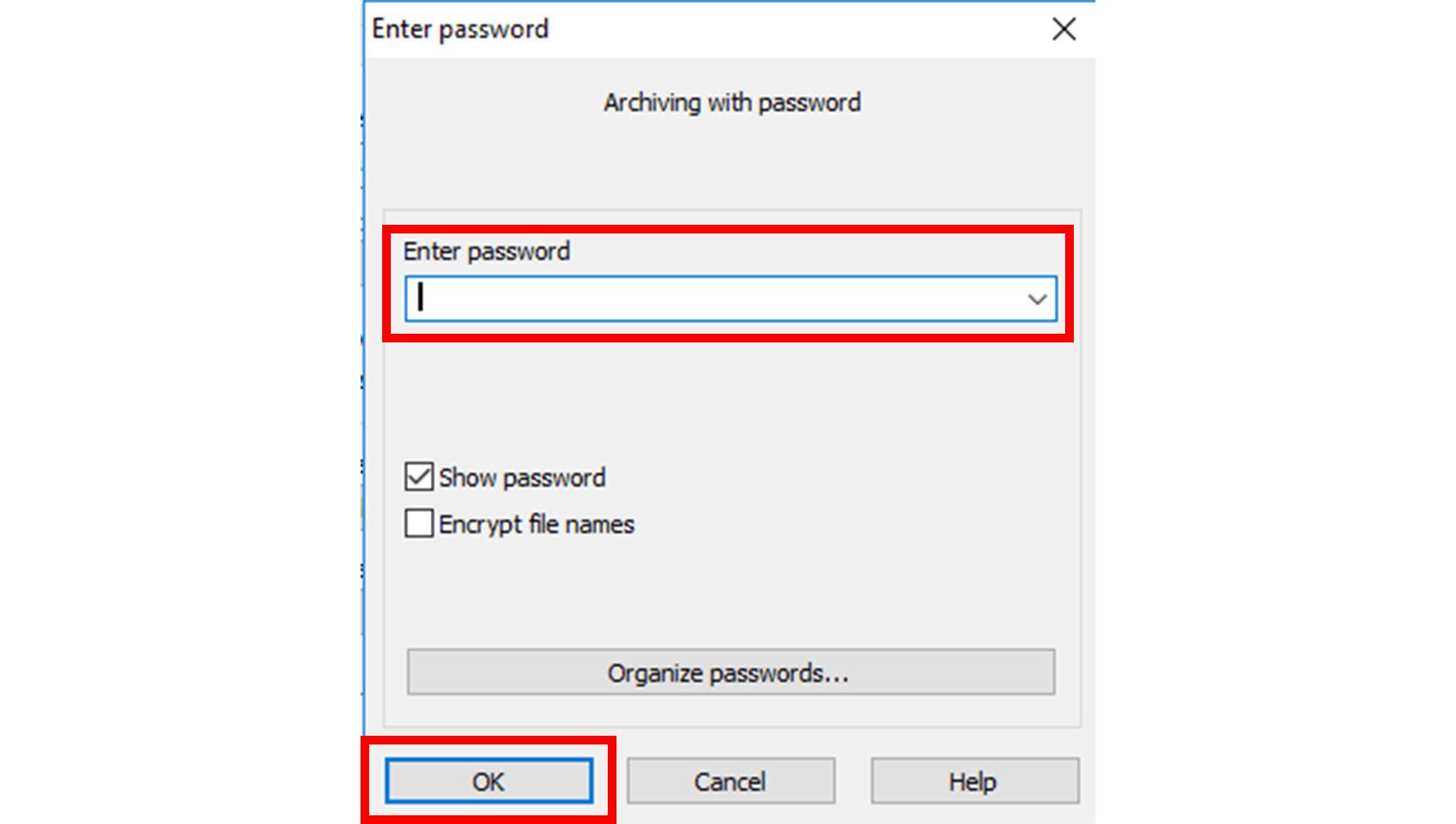 cara membuat file rar dengan password
