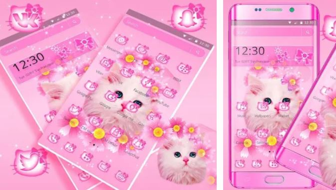 Cute Pink Kitty Cat Theme
