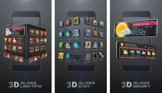 Glass Tech 3D Theme