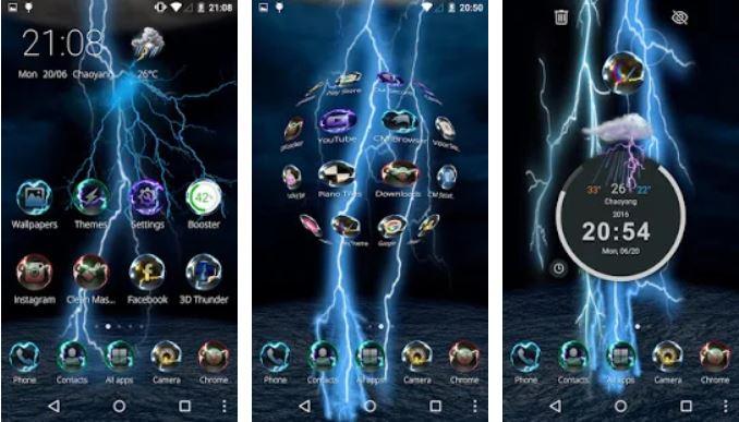 Lightning Storm Tech 3D Theme