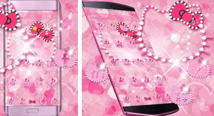 Pink Kitty Diamonds Theme
