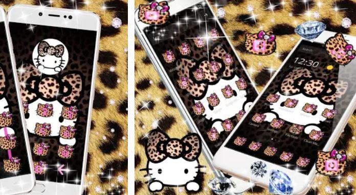 Yellow Leopard Kitty Diamond Theme