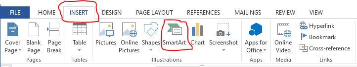 membuat bagan di microsoft word