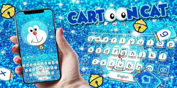 Blue Cartoon Cat Keyboard Theme
