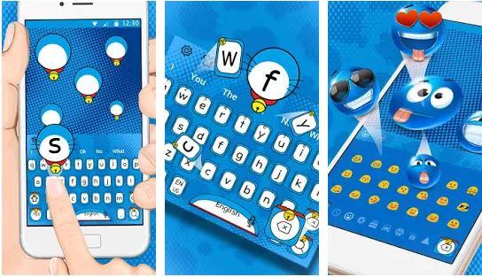 Keyboard Dore Meow Blue Cat