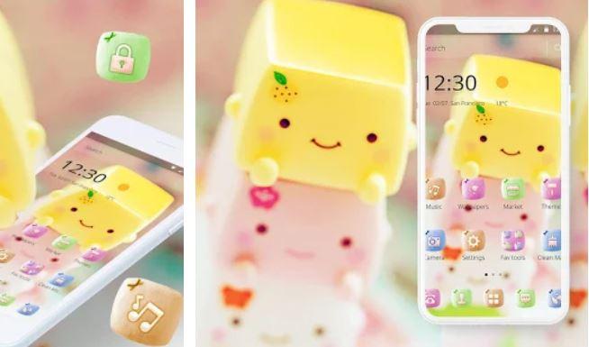 Cute Sweet Marshmallow Theme