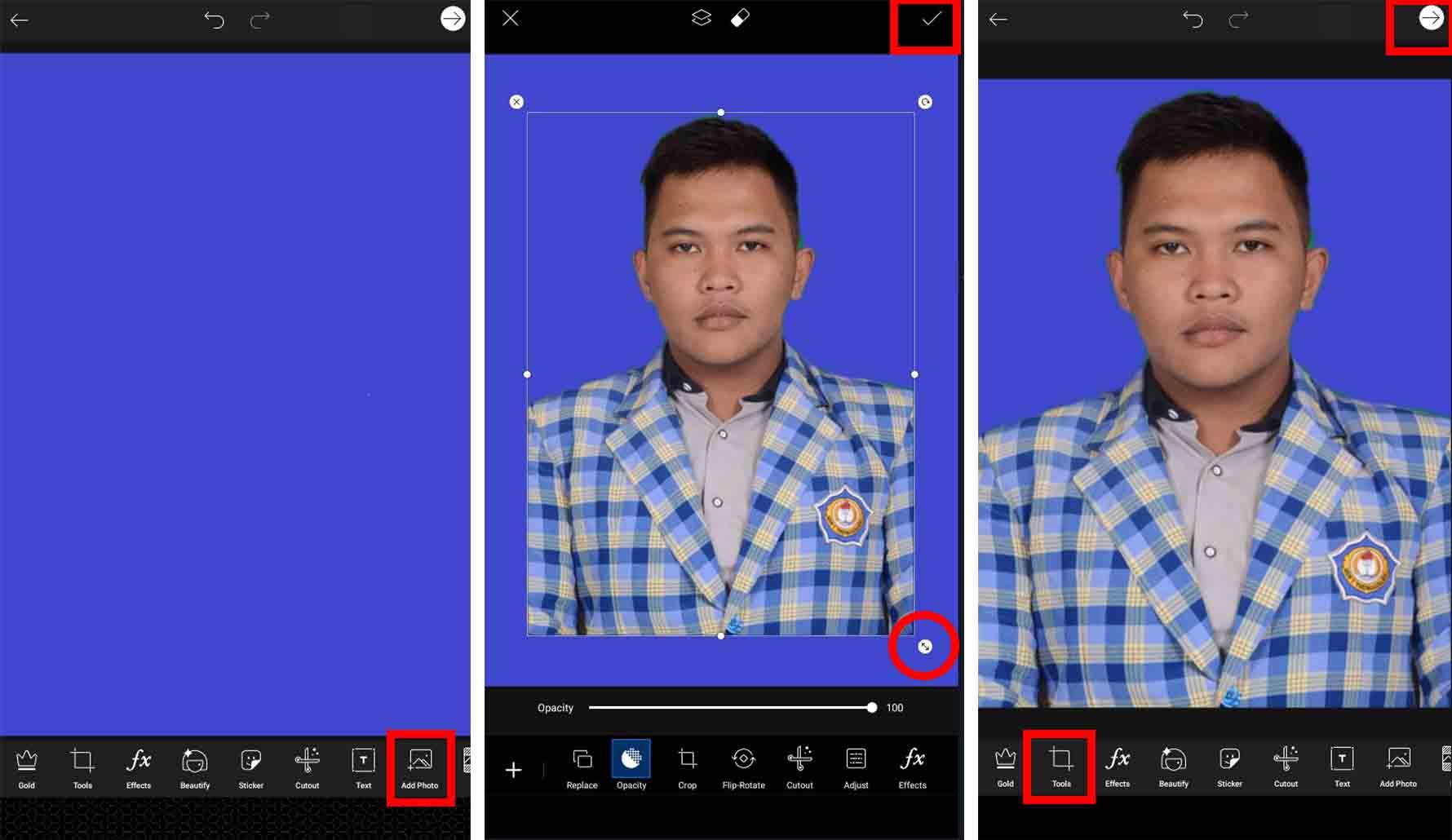 Menggunakan PicsArt