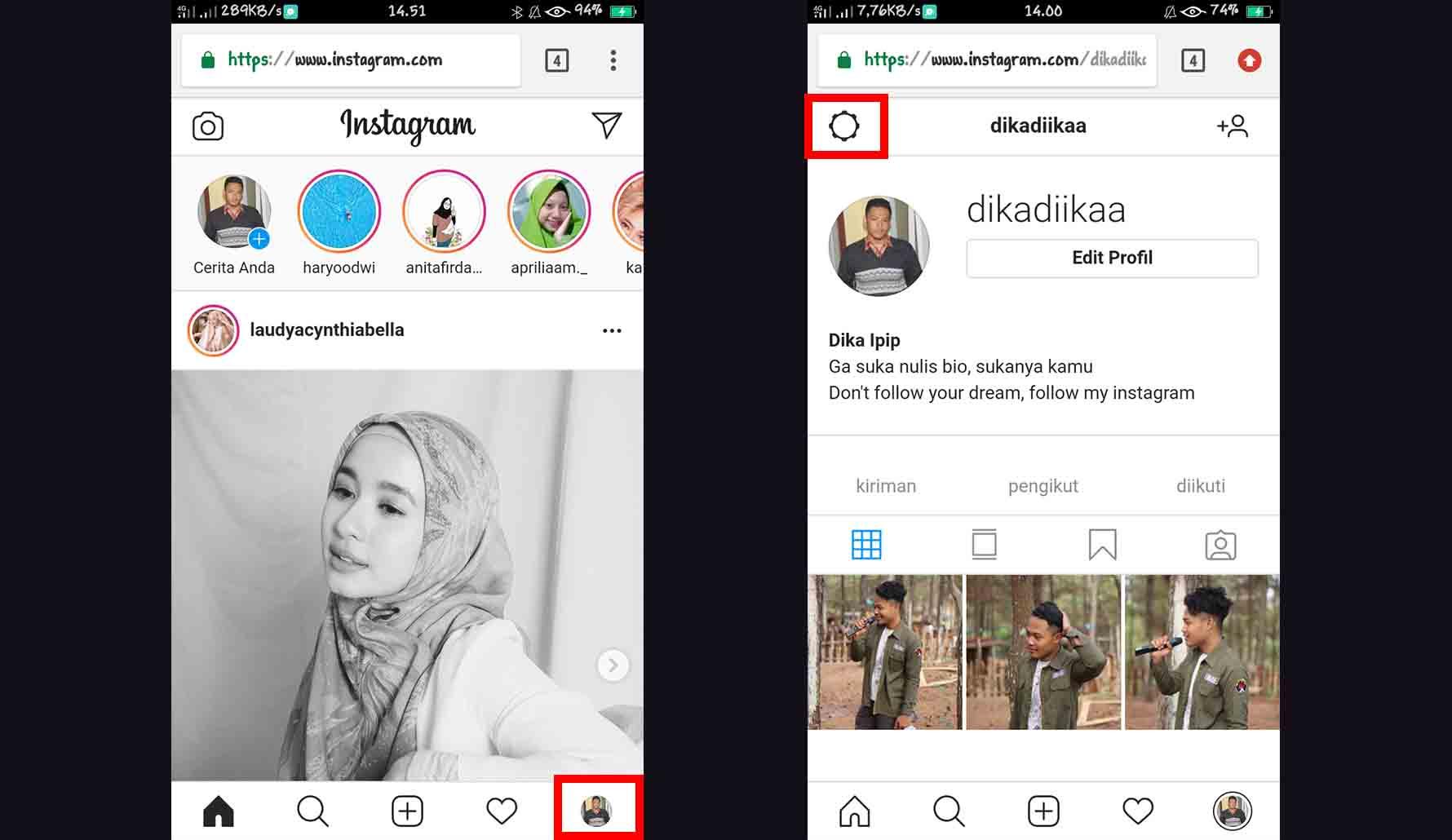 Cara Mengganti Bahasa di Instagram dari Browser Smartphone