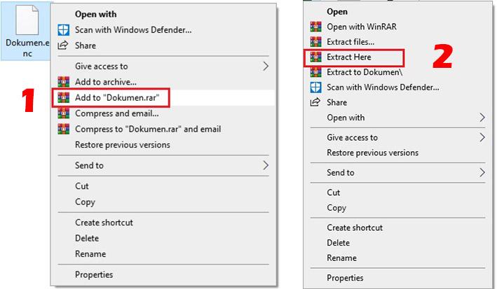 cara membuka file ekstensi enc
