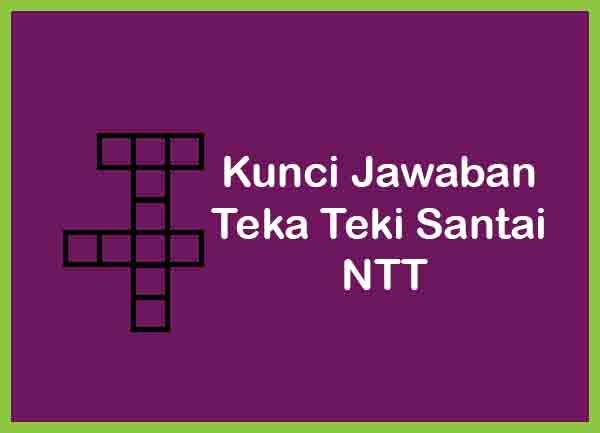 Kunci Jawaban Teka Teki Santai level NTT