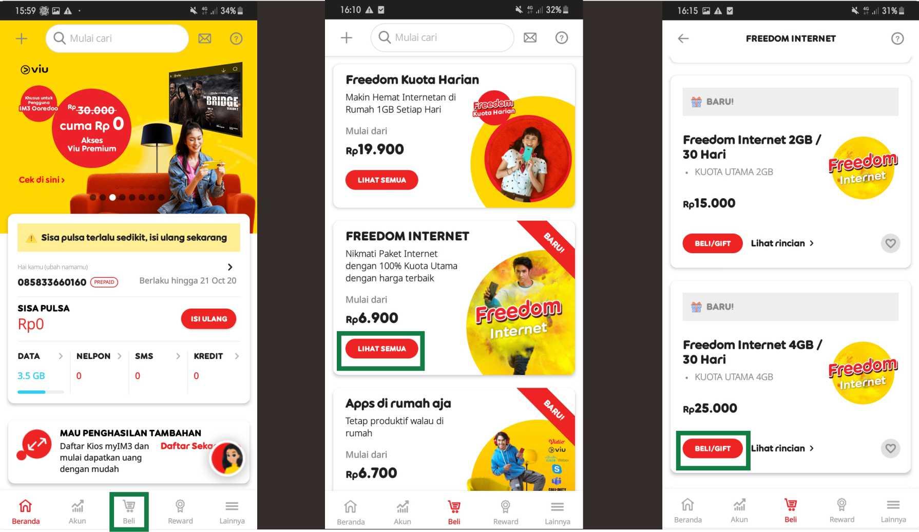 Cara Transfer Kuota Indosat Terbaru menggunakan Aplikasi myIM3