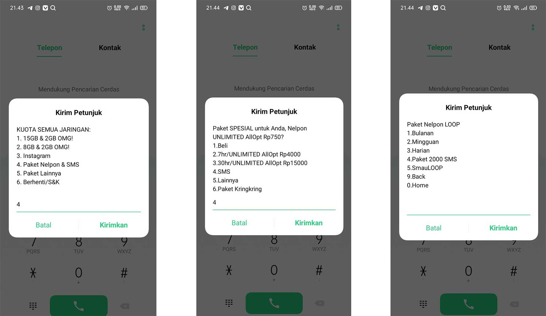 Cara Daftar Paket SMS Telkomsel Loop