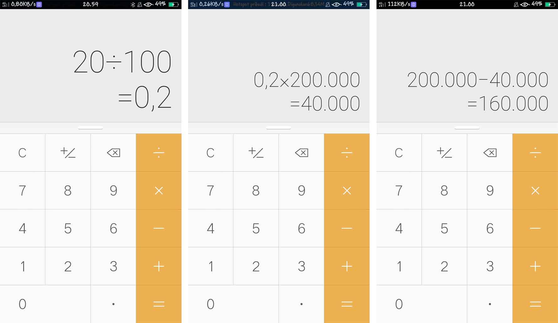 Cara Menghitung Persen di Kalkulator HP yang Tidak Ada Tombol Persennya