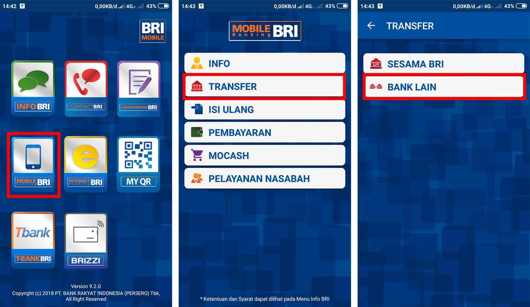 Cara Transfer BRI Ke BCA Melalui BRI Mobile