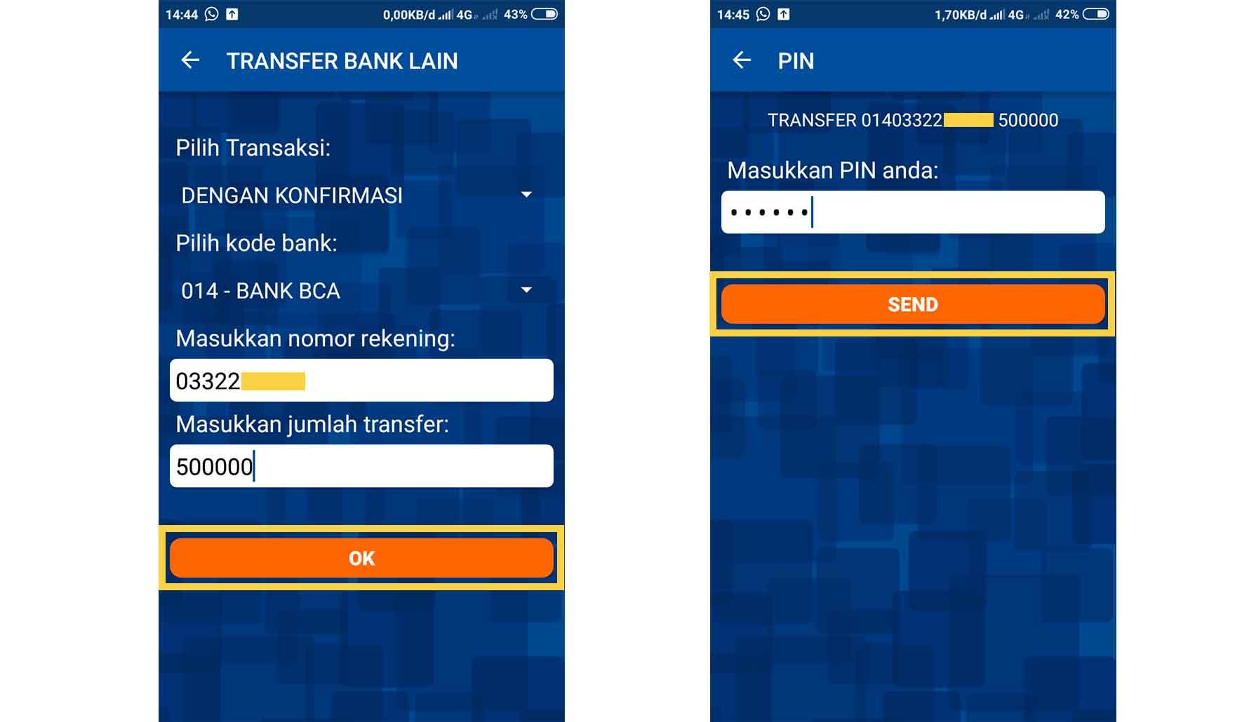 Cara Transfer BRI Ke BCA dengan BRI Mobile