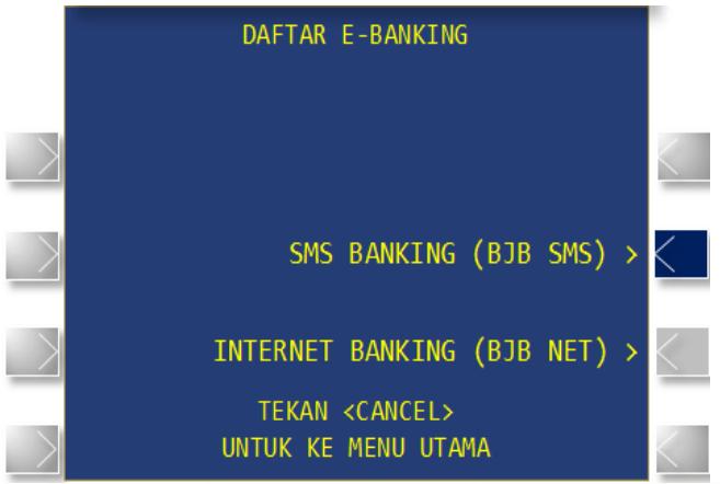 cara registrasi bjb sms banking