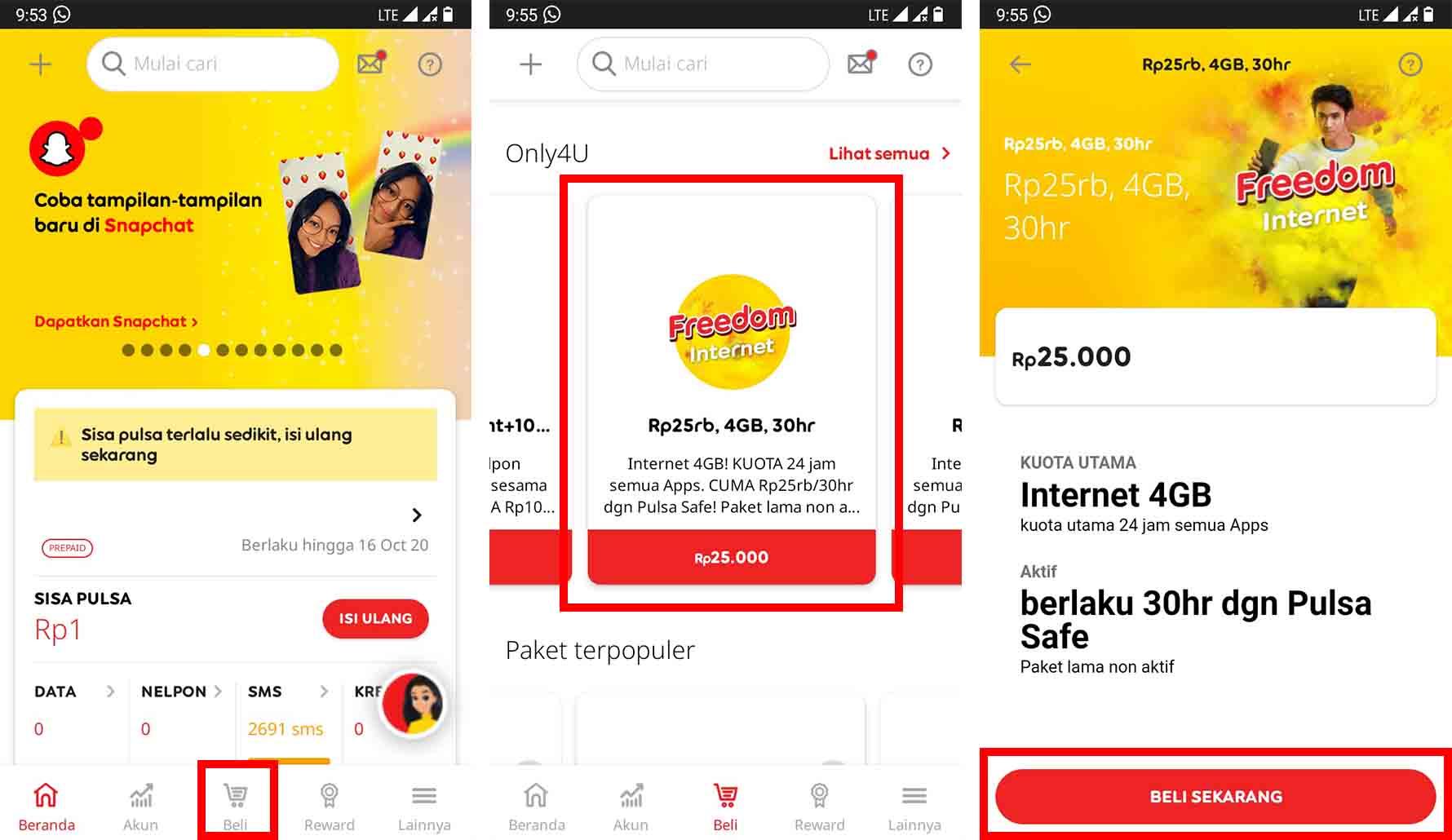 Cara Daftar Paket Internet Indosat 25 Ribu