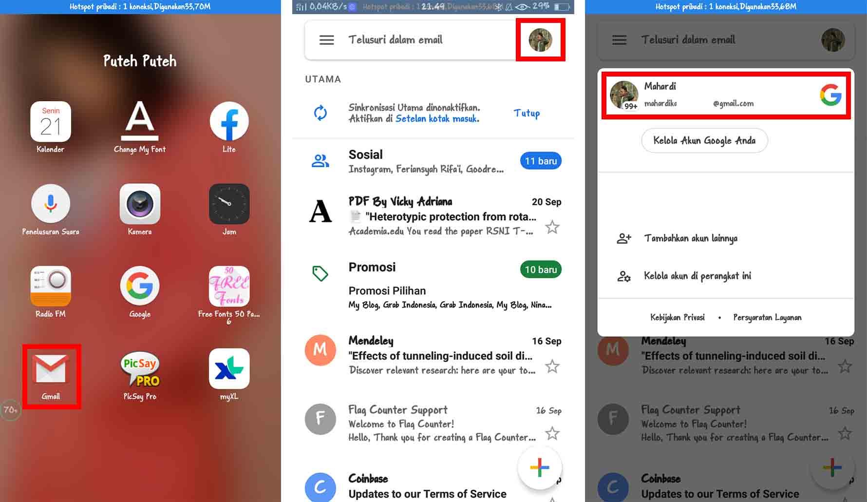 Cara Melihat Email Sendiri Menggunakan Gmail