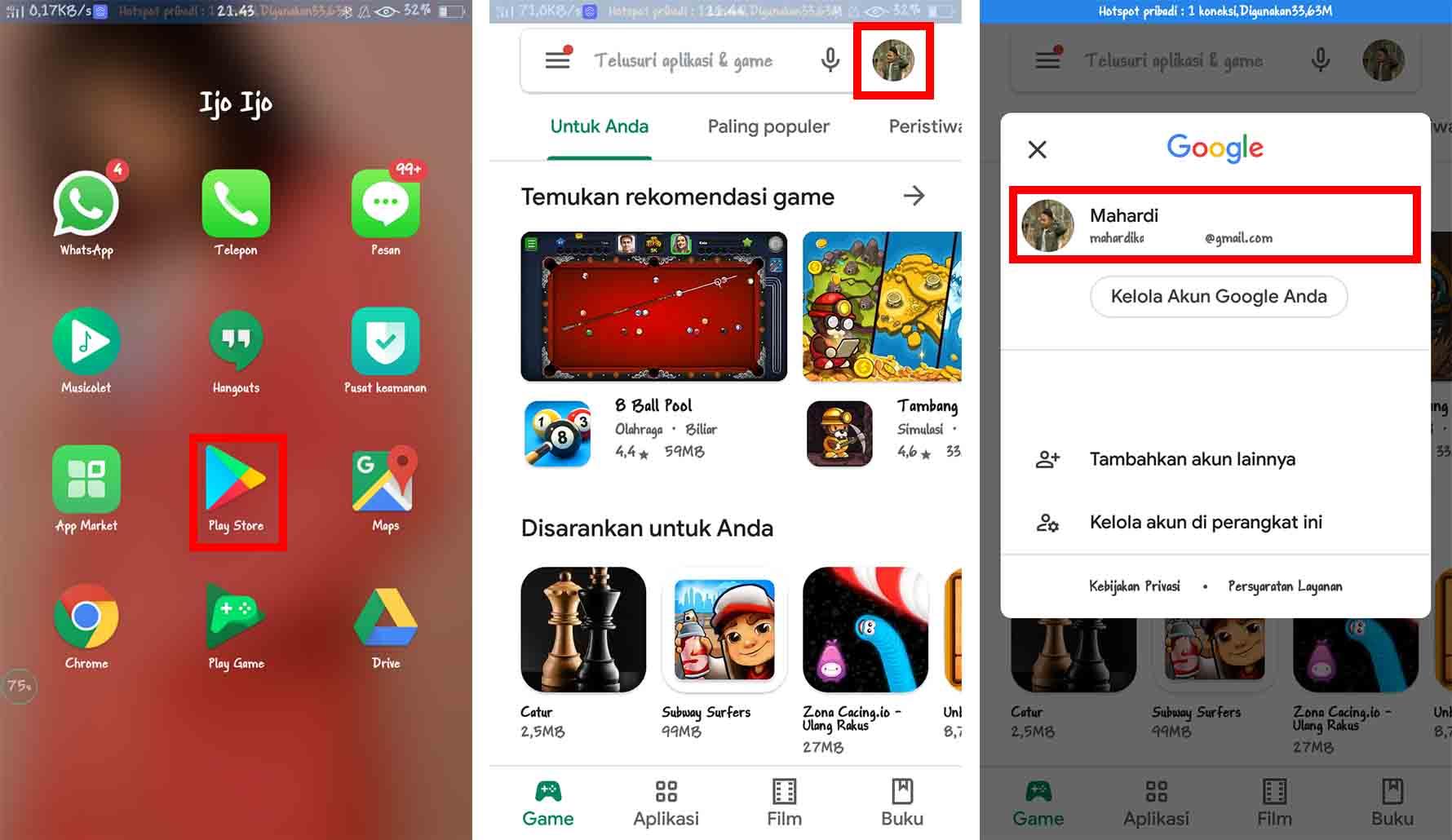 Cara Melihat Email Sendiri Menggunakan Play Store