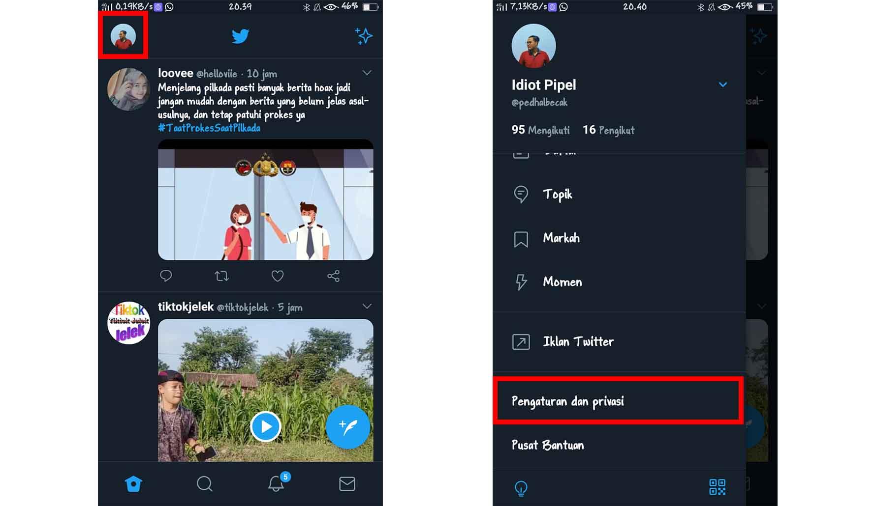 Cara Melihat Email Twitter Sendiri Terbaru