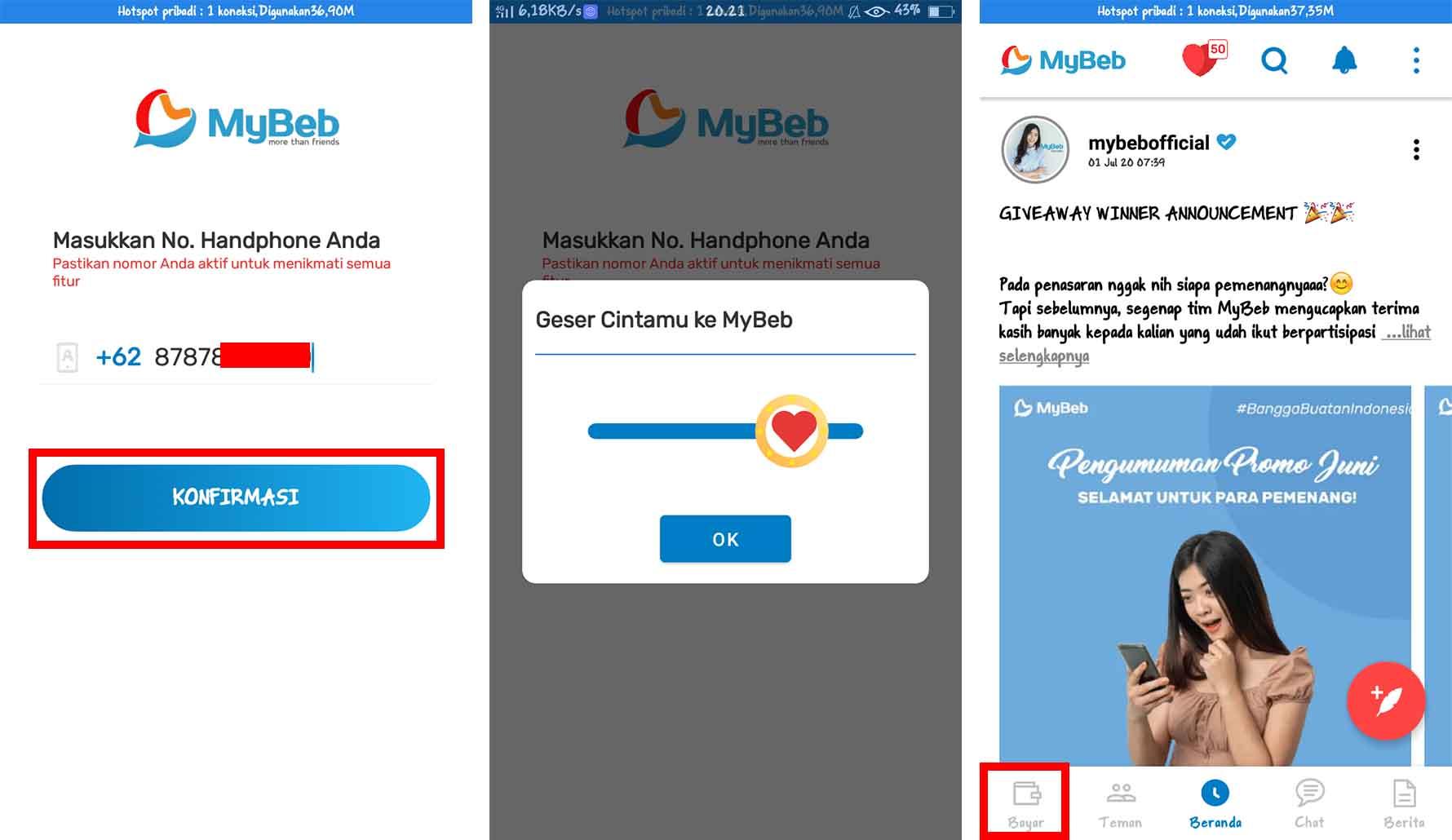 Cara Mendapatkan Saldo OVO Gratis Menggunakan MyBeb