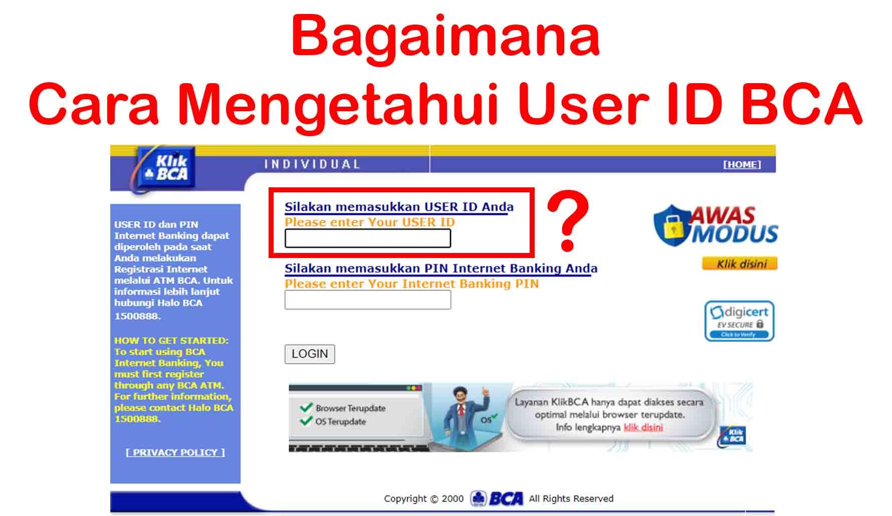 Bagaimana Cara Mengetahui User ID BCA