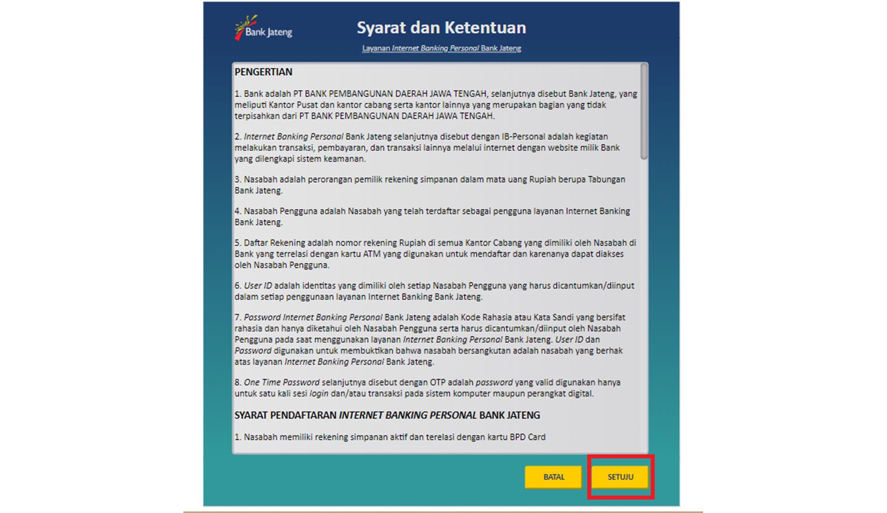 Cara Daftar Internet Banking Bank Jateng