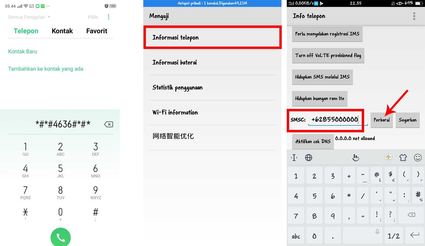 Cara Mengganti SMSC Indosat