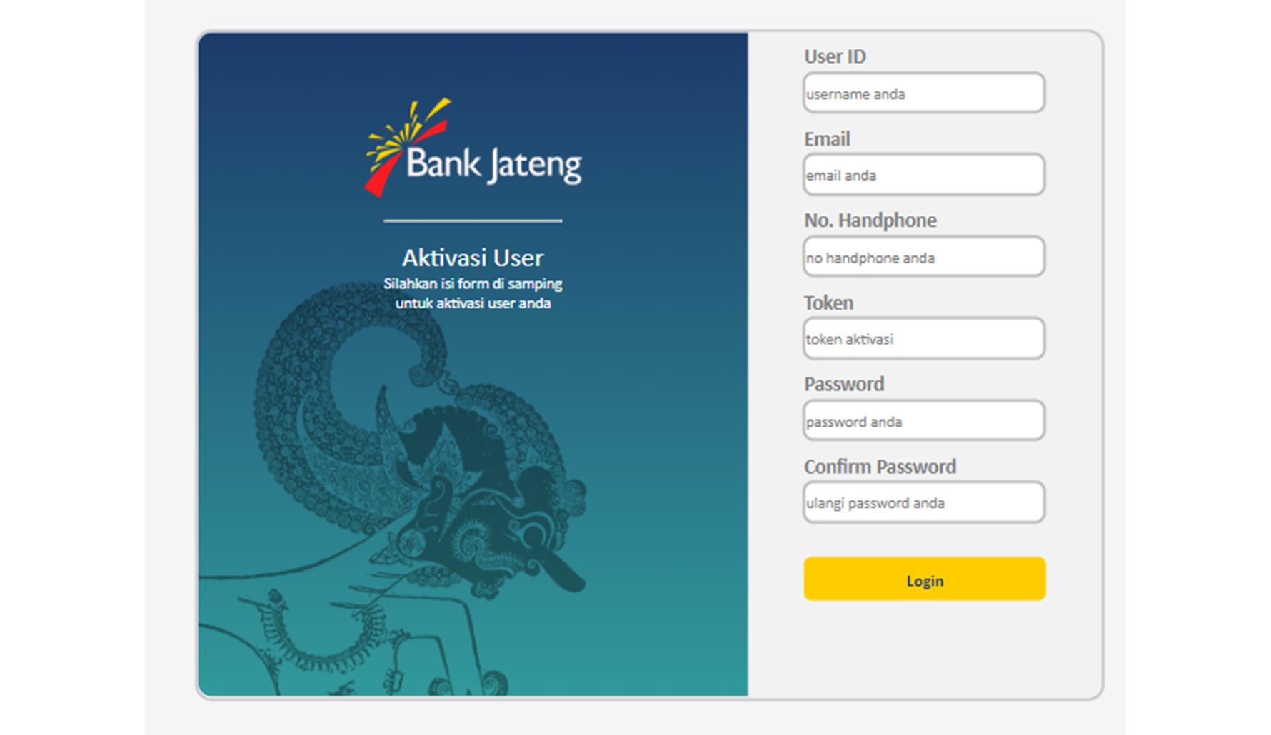 Cara Registrasi Internet Banking Bank Jateng