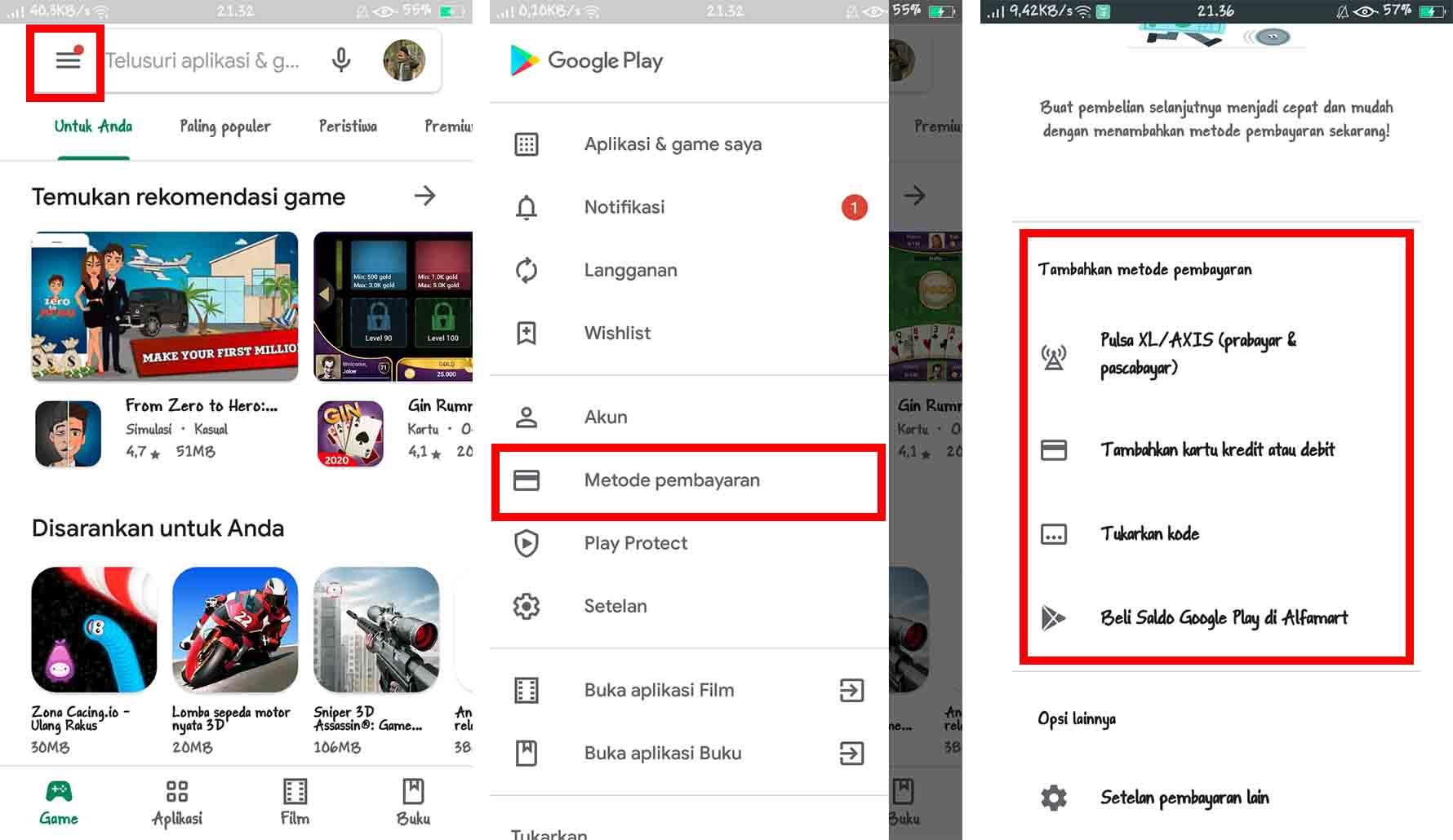 Mengatasi Metode Pembayaran Google Play Ditolak