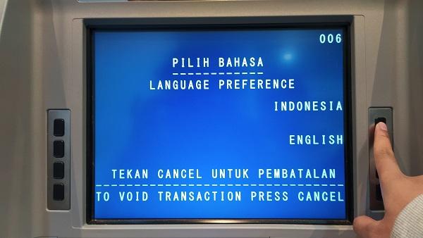 Pilih Bahasa di ATM