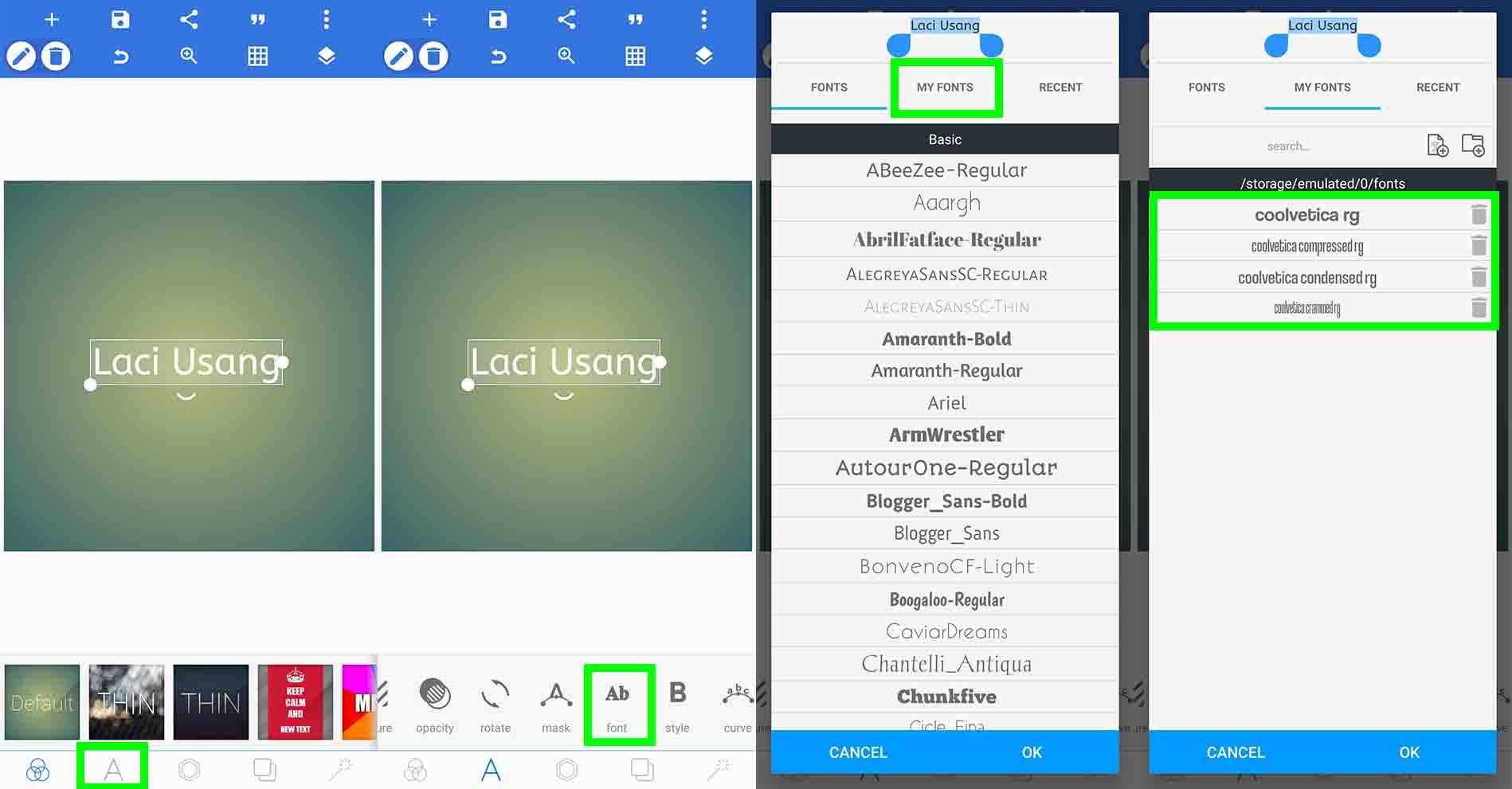 Cara Menambah Font di PixelLab