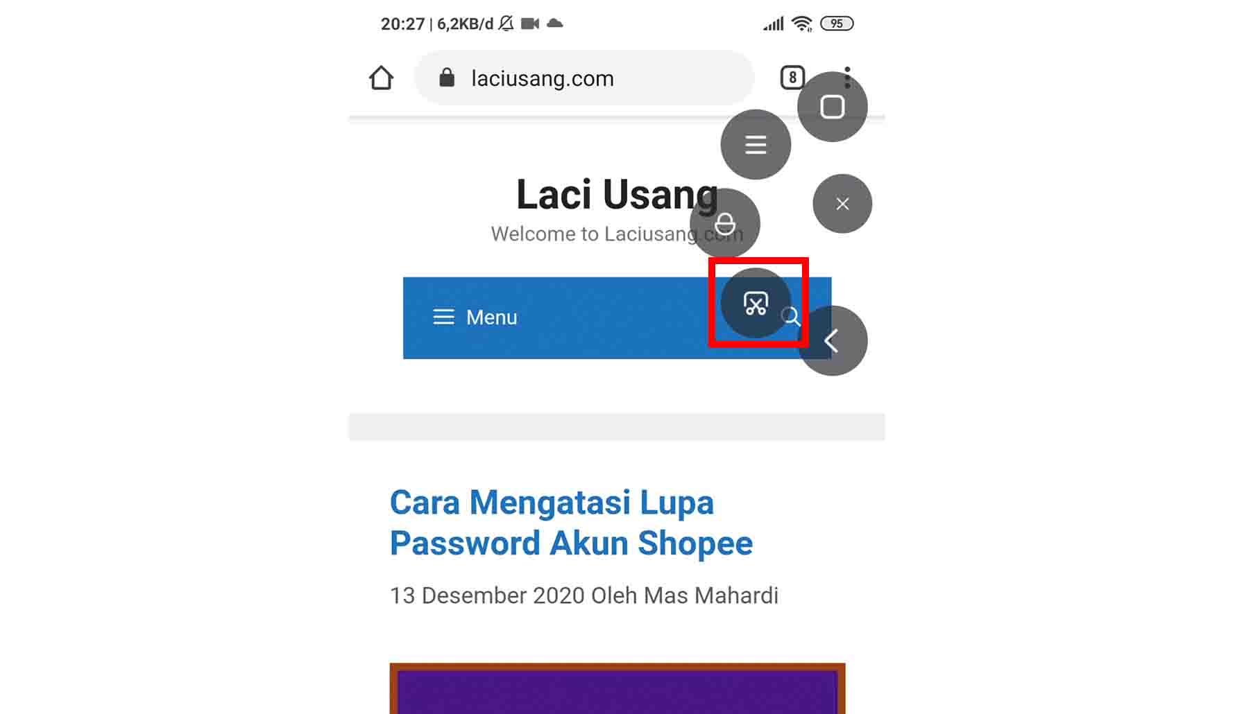 Cara Screenshot Redmi Note 8 dan Note 8 Pro Menggunakan Bola Pintas