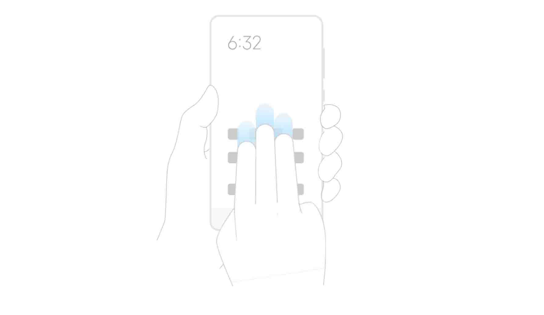 Cara Screenshot Redmi Note 9 dan Note 9 Pro menggunakan 3 jari