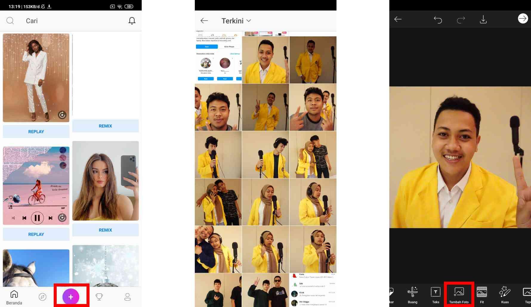 Cara Memasang Twibbon dengan PicsArt