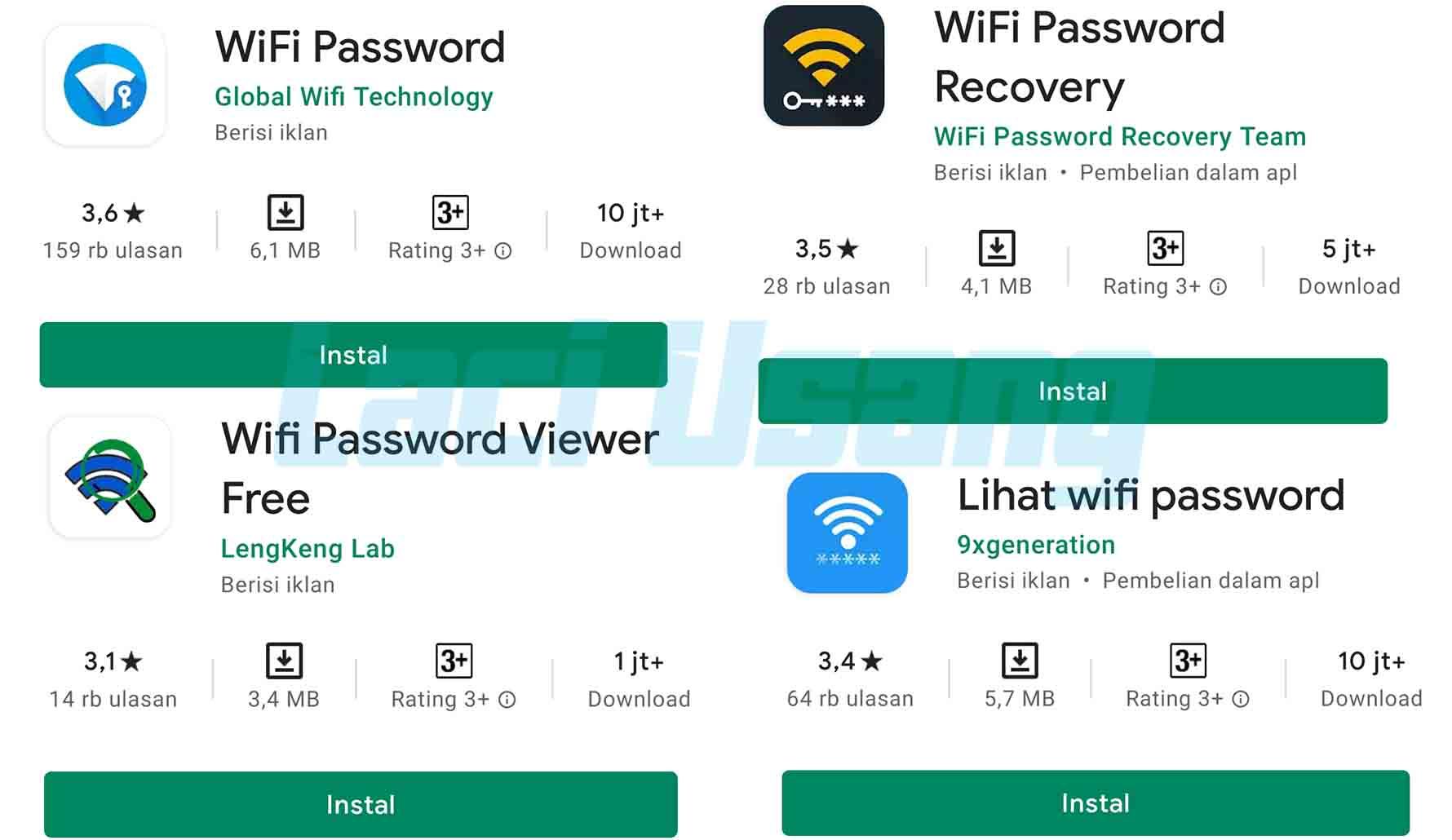 Cara Melihat Password Wifi Yang Sudah Tersambung