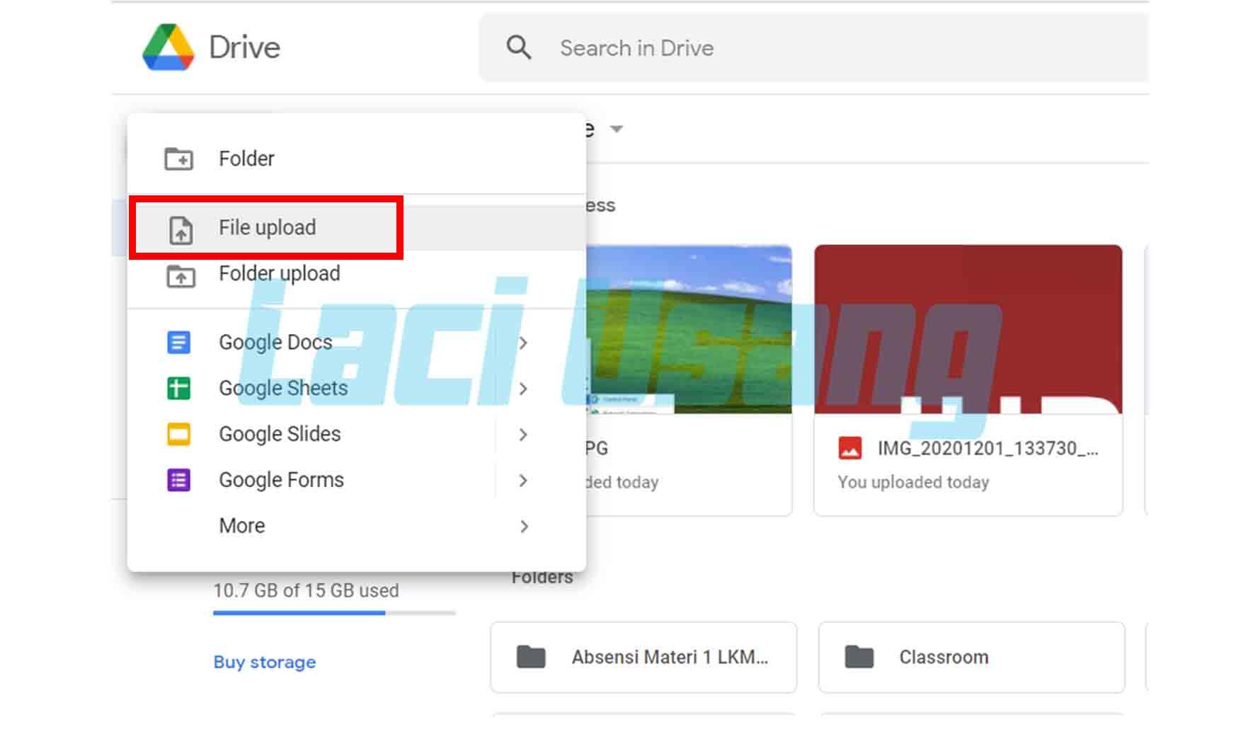 Cara Memindahkan Foto ke Google Drive Lewat Laptop atau Komputer