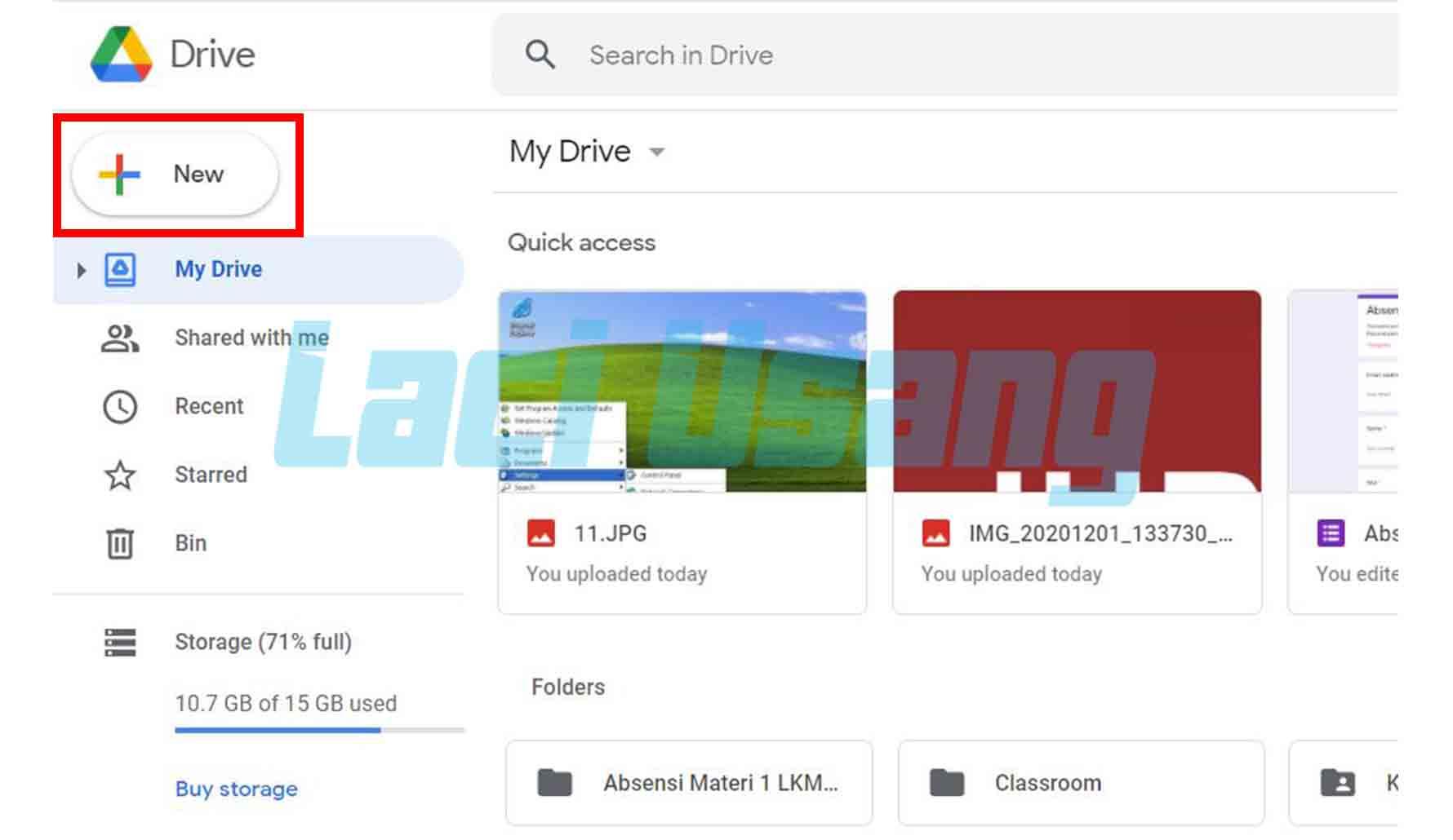 Cara Memindahkan Foto ke Google Drive