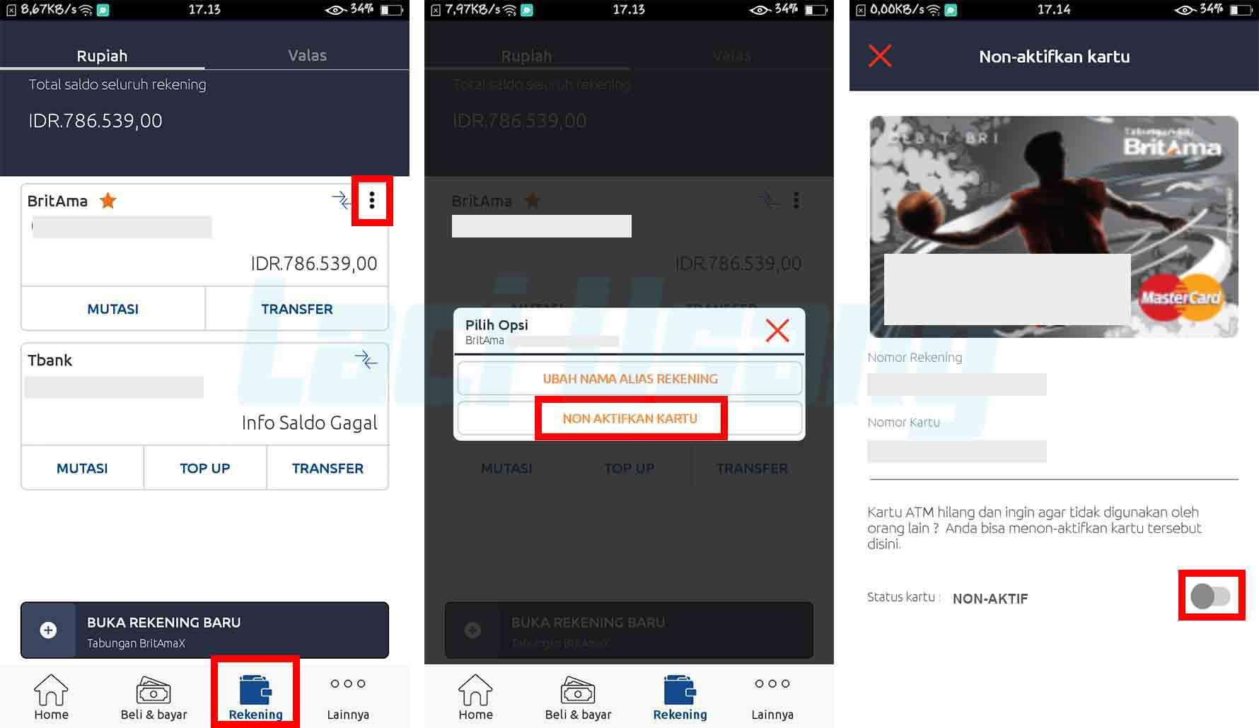 Cara Mengatasi Kartu ATM BRI Disable di Aplikasi