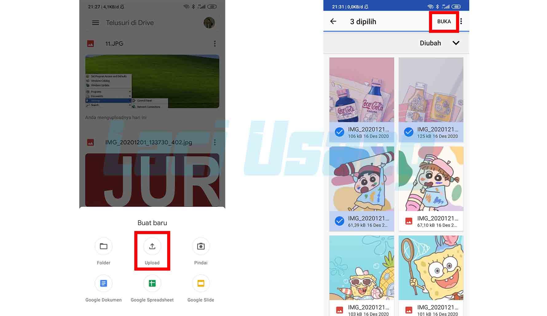 Cara Menyimpan Foto Gambar di Google Drive