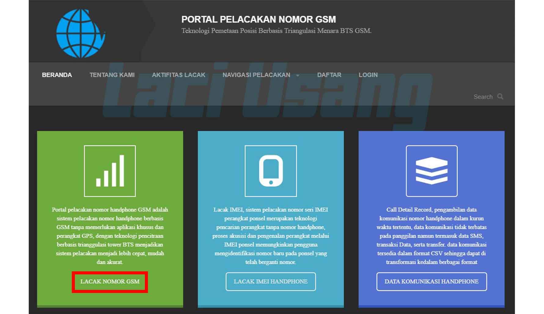 Website Untuk Melacak Posisi No Hp Beneran Lacak GSM