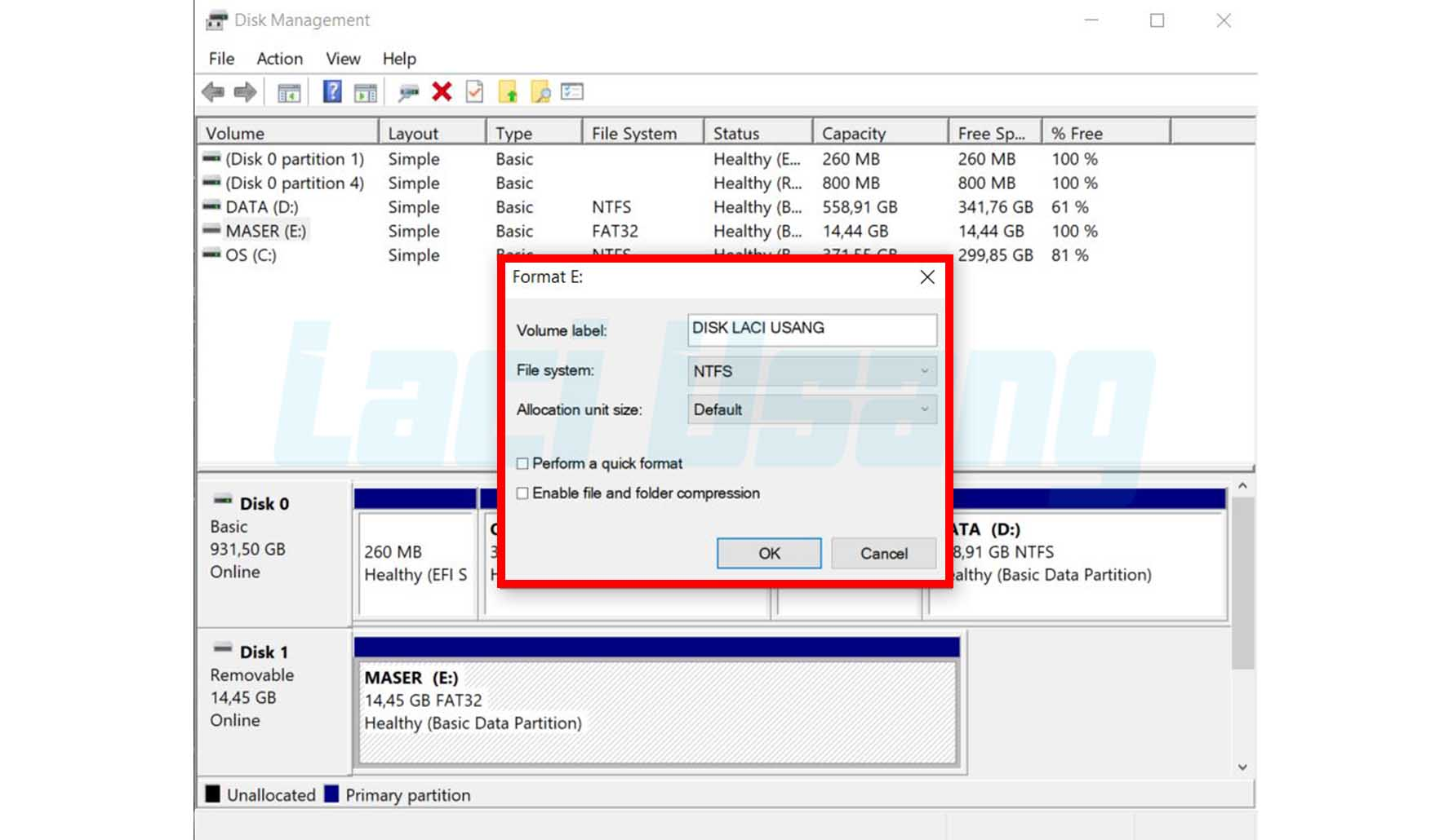 Cara Mengatasi Flashdisk Windows Was Unable To Complete The Format