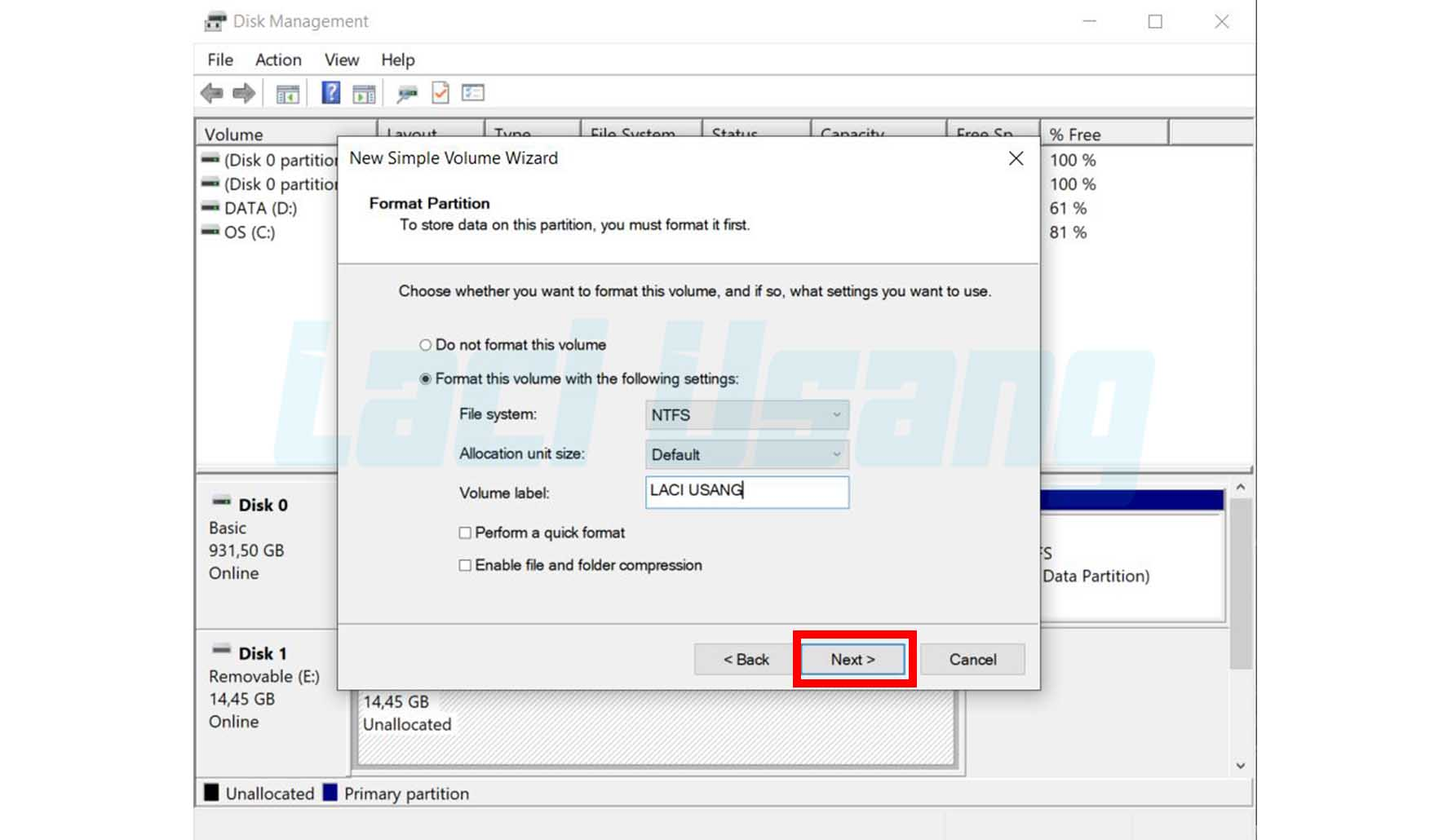Cara Mengatasi Hardisk Windows Was Unable To Complete The Format